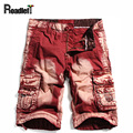 100% cotton Men's denim cargo shorts casual board shorts arm camouflage bermuda cargo beach shorts
