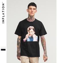 Инфляции малыш лицо графическим принтом футболка с короткими рукавами известный бренд сезон: весна–лето Для мужчин платье рубашка Street wear футболка 8250 s