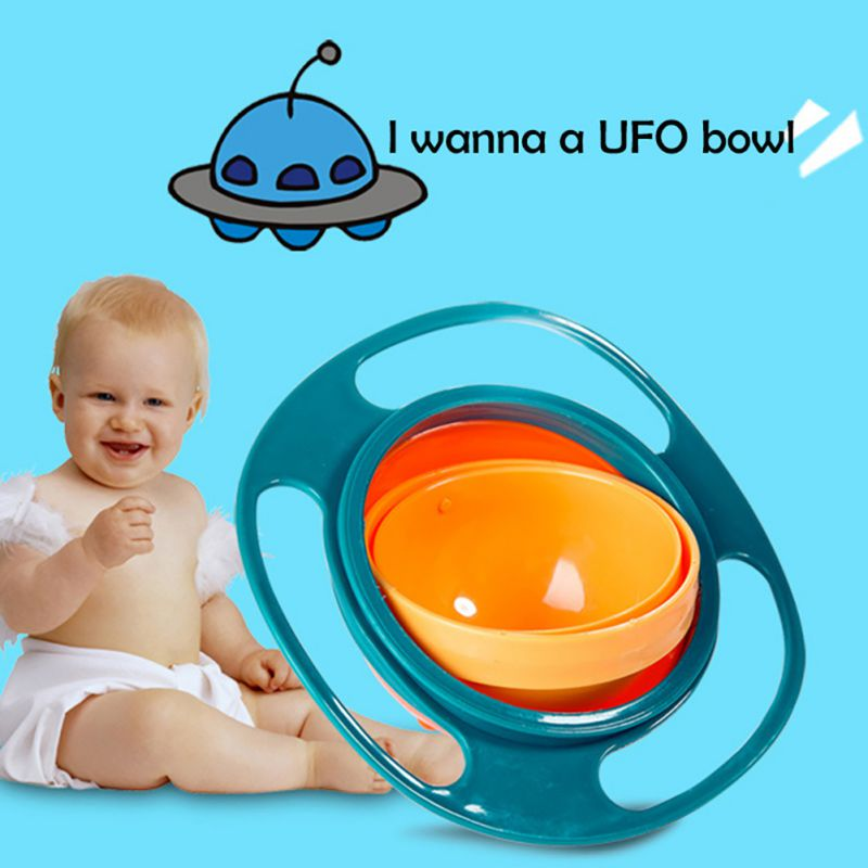 Children Tableware Non Spill Bowl Toy Dishes Universal 360 Rotate Avoid Food Spilling Food Snacks Baby Shower Dinnerware