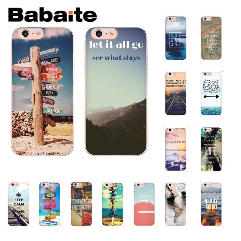 Babaite travel does the heart Traveling Aircraft Soft TPU Phone Cover for iPhone X XS MAX  6 6s 7 7plus 8 8Plus 5 5S SE XR 10