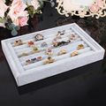 Gray velvet ring holder display shelf rings display jewelry organizer boxes quality rings organizer stoage case 22.5*14.5*3cm