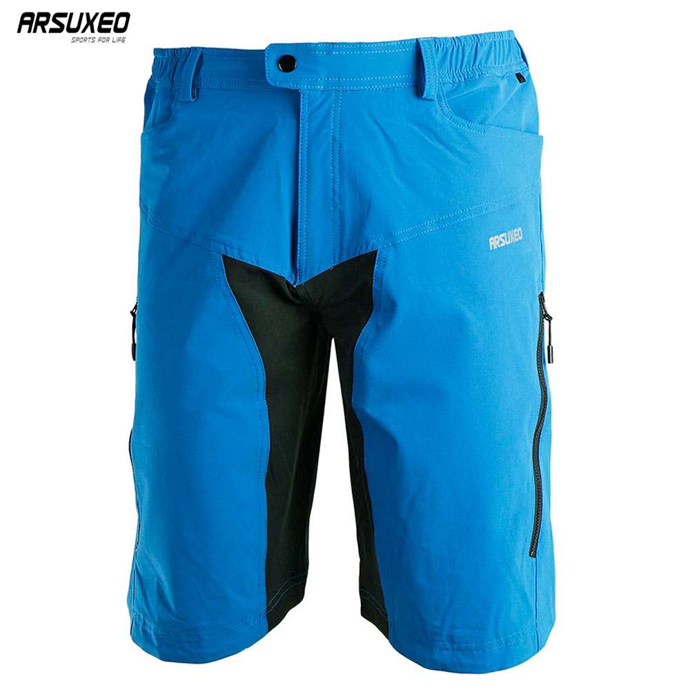 ARSUXEO Heren Buitensporten Fietsen Downhill MTB Shorts Mountainbikebox Shorts Wear Jersey-kleding met pad DH-2