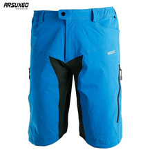 ARSUXEO Mens Outdoor Sports Cycling Downhill MTB Shorts Mountain Bike Bicycle Shorts Wear Jersey Clothing With