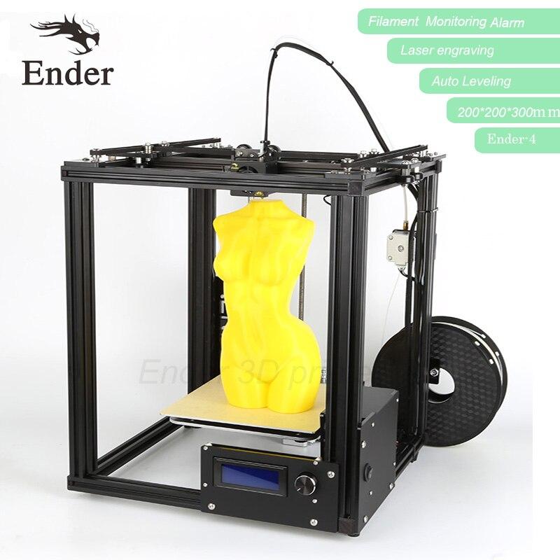 3D принтер ender-4 с лазерной, автоматическое выравнивание, RepRap Prusa i3 ender-4 принтер 3D комплект, нити мониторинга сигнализации, большие размеры N ни...