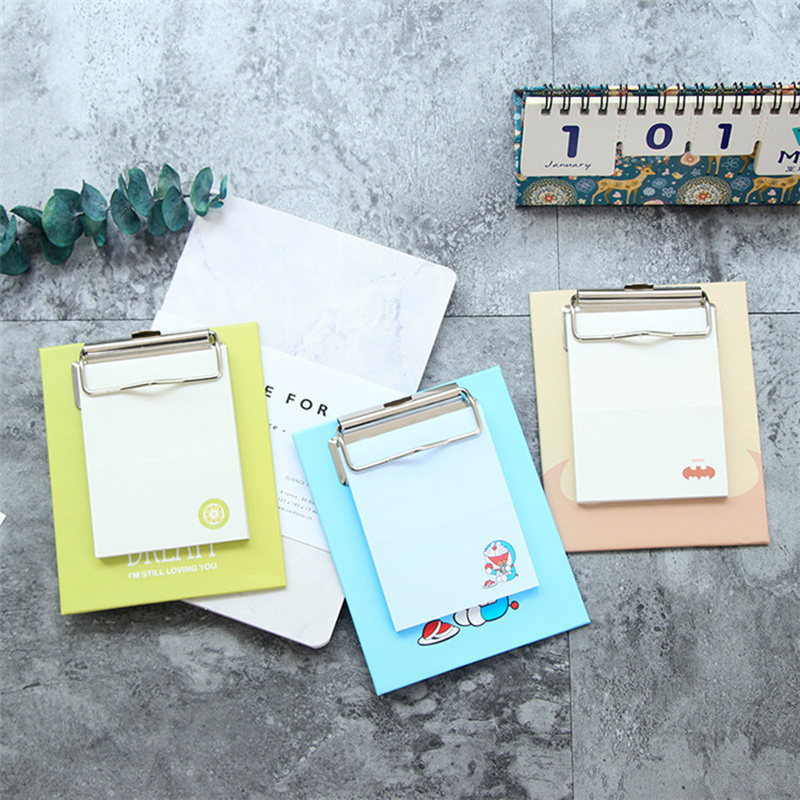 Sticky Notes Mini Clipboard Notesbook Post Sticky Note Writing Notepad Diary Stickers Stationery Work Planner Office Supplies