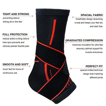 1 Pcs Pressurizable Bandage Ankle Support Protect Foot Basketball Football Badminton Anti Sprain Ankle Guard Warm Brace Nursing 3