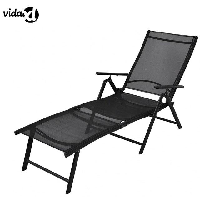VidaXL Transat Cómodo Respaldo Moderno Tumbona Plegable De Aluminio ...