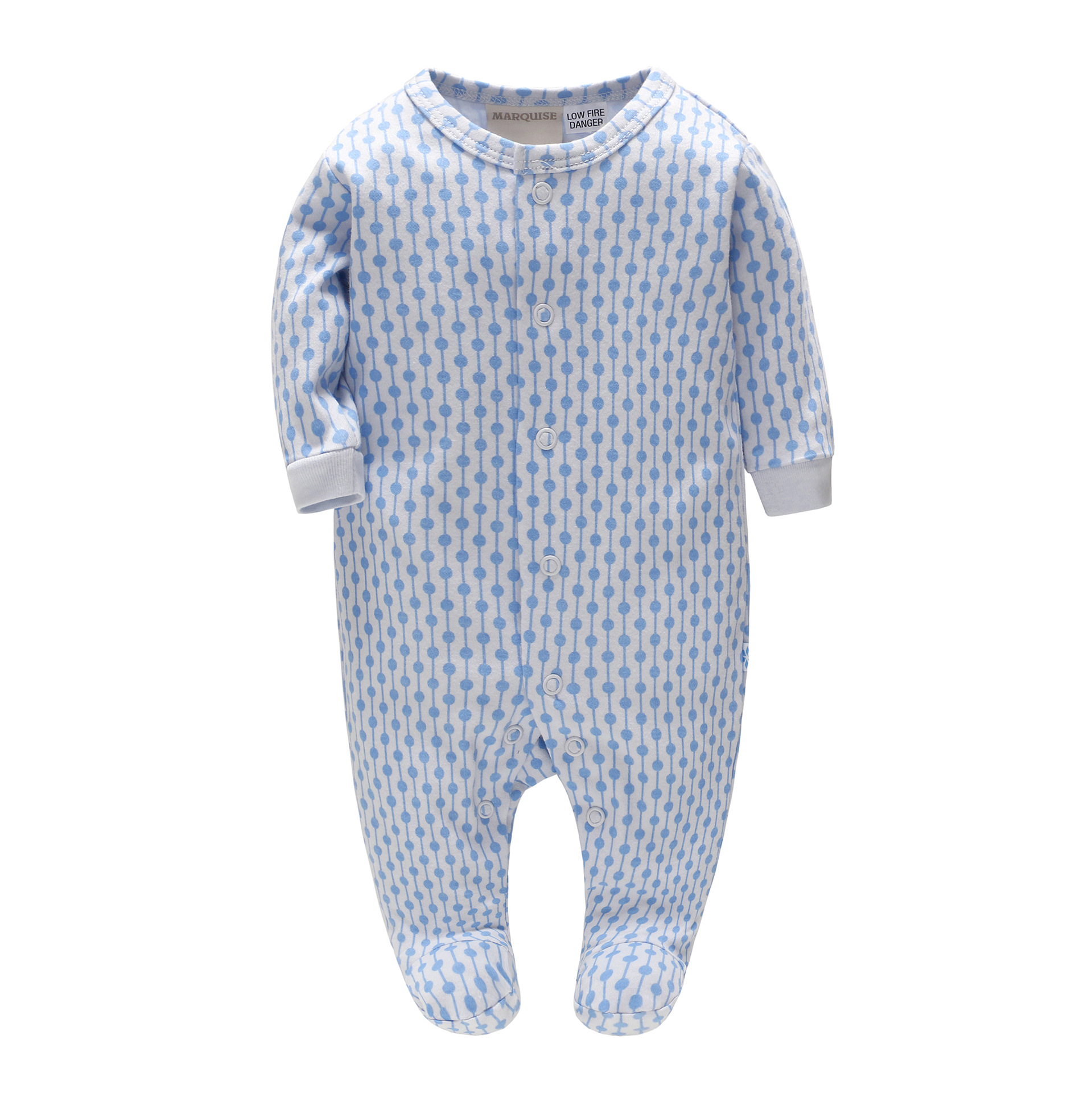 Picturesque Childhood 2018 New Infants Baby Onesie Baby Clothing Cotton Pink and Blue Long Sleeved Bag Feet Climbing Clothes