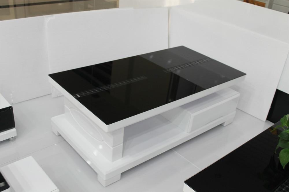 modern minimalist glass coffee table storage coffee table small coffee table black and white living room ideas