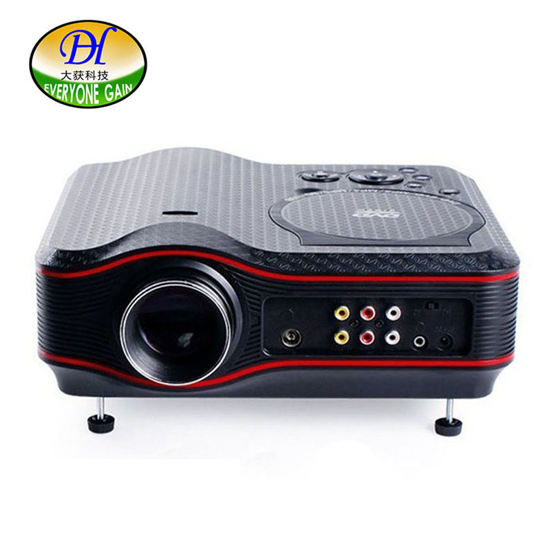2017 New 3D TV Projector 1000 Lumens 800 600P HD DVD Game Multimedia Player Proyector LED