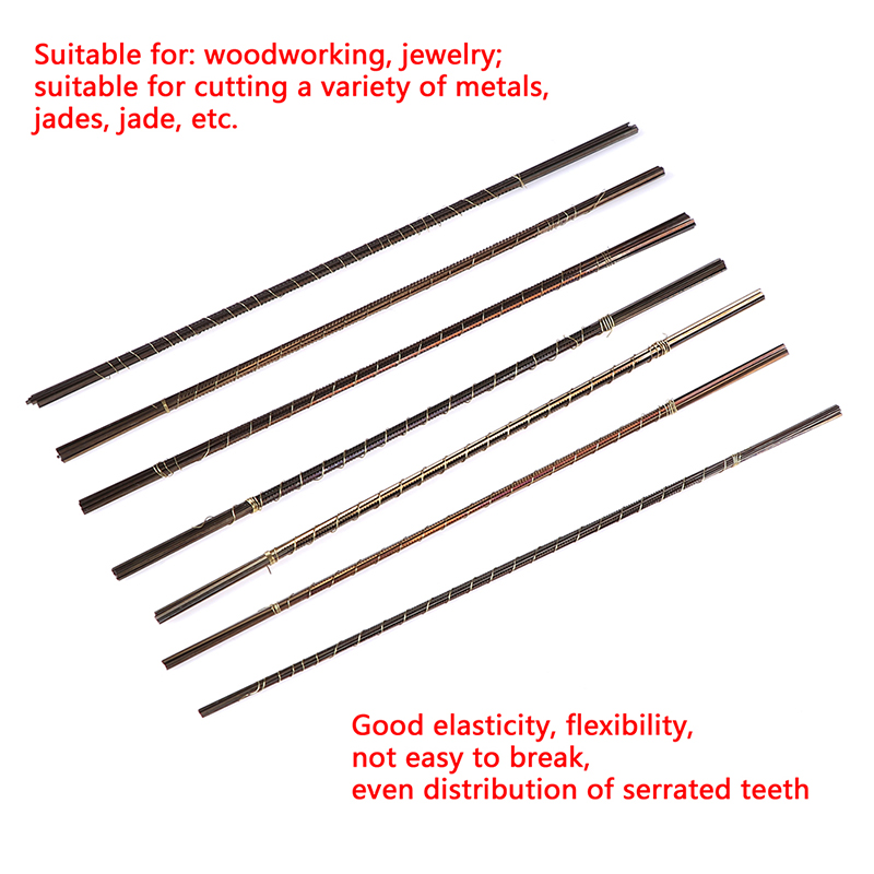 Image 2 - 12pcs Mini 13cm Diamond Wire Saw Blade Cutter Jewelry Metal Cutting Jig Blades Woodworking Hand Craft Tools Scroll Spiral Teeth-in Saw Blades from Tools