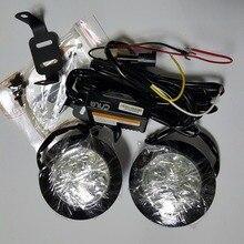 Cnlm 2X автомобиля drl Круг Круглый дневной ходовые огни спереди дневной 4 светодио дный противотуманных фар Водонепроницаемый диммер flash E4 R87 ECE RL00