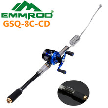 The New 2016 EMMROD ultrashort Portable Road the Fishing Combo Kits Sea Fishing Rafts Fishing GSQ-8C-CD
