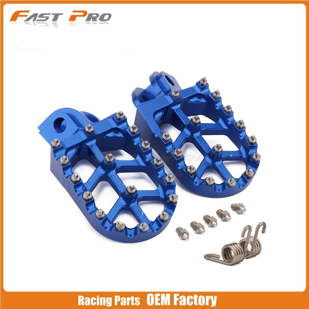 Billet MX Foot Pegs Rests Pedals For Husqvarna TC65 17-18 TC85 14-17 TC125 FC250 FC450 FC350 14-15 TC250 TE FE 125-501 14-16