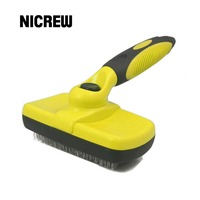 Nicrew Grooming Brush Pet Deshedding Tool Dogs Pets Slicker Brush Cat Comb Brush Glove For Removing