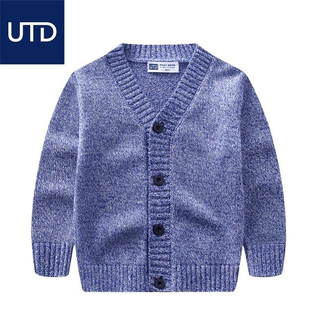 Camisolas do casaco de algodão nova primavera para crianças pequenas camisola decote em V todo o jogo crianças casaco camisola