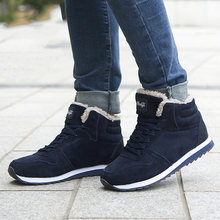 Women Boots Winter Shoes 2018 Plus Size 46 Ankle Boots For Women Shoes Snow Botas Mujer Casual Booties Warm Winter Sneakers(China)