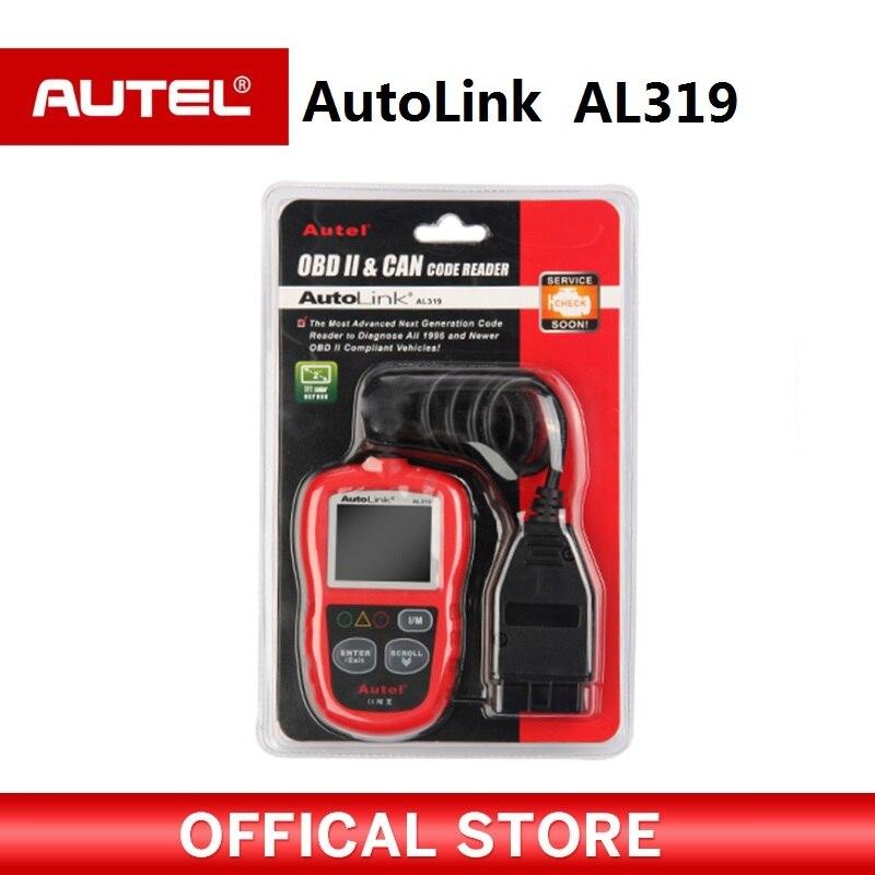 Autel AL319 OBD2 CAN Lecteur de Code Automatique De Voiture Outil De Diagnostic Vue Freeze Frame Données OBDII OBD 2 Scanner Automobile PK elm327 ML319
