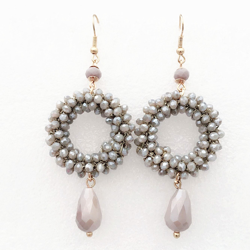Μπαρόκ στυλ μικρό κρύσταλλο μακρύ σκουλαρίκια για γυναίκες drop κρεμαστό κόσμημα oorbellen χειροποίητο 2018 κοσμήματα κόμμα Χριστουγεννιάτικο δώρο μέρος