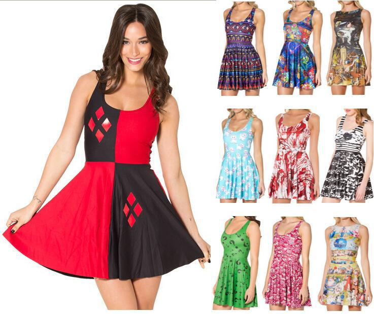 Detail Feedback Questions about Summer Dress Women Sleeveless O Neck  Knitted Satin Party Skater Dresses Casual Sundress Red Green Black White  Kawaii on ... d190ba7fac