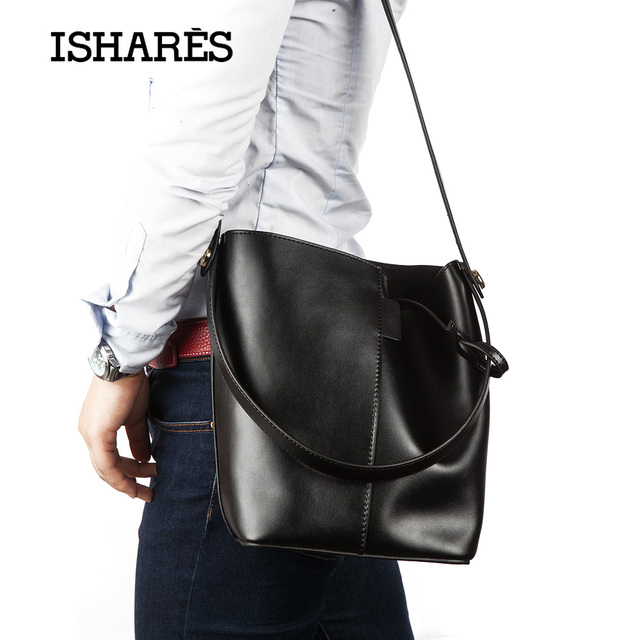 Luxury Cow leather Handbags Women Bags bucket bag High Quality 100% Genuine Leather Brand Designer shoulder handbags