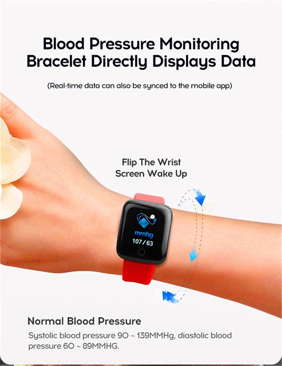 HTB1zWYoO4TpK1RjSZR0q6zEwXXaG Smart Wristband Heart Rate Monitor Smart Fitness Bracelet Blood Pressure Waterproof IP67 Fitness Tracker Watch For Women Men