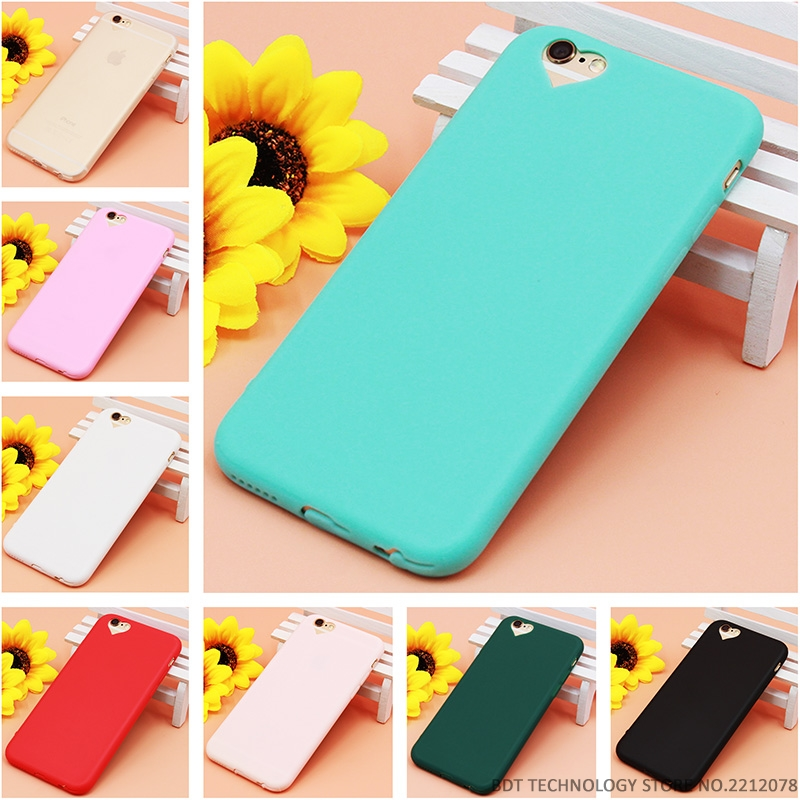 timeless design 7d953 2f77d US $1.38  Top Quality Cute candy Color Loving Heart for iPhone 7 Case  protective phone cases for Apple iPhone 5 5S SE 6 6S Plus capa Coque-in  Fitted ...