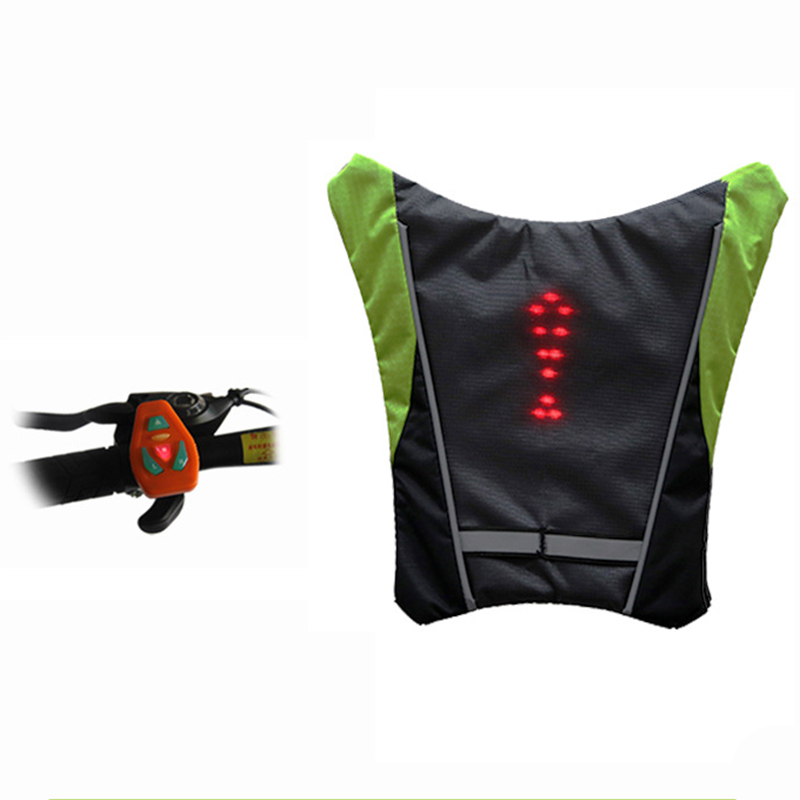Reflective Cycling Safety Vest Outdoor Waterproof LED Turn Signal Vest for Outdoor Running Night Walking Cycling Vest Clothings in Safety Clothing from Security Protection