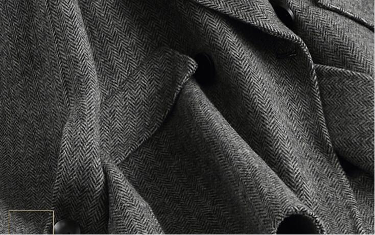 Hiver Top Pardessus Automne Femmes black Double En Grey Qualité Court Manteau Laine Cachemire Yolanfairy Face Chaud Veste Invierno Abrigo Mujermf640 q65Iq