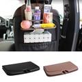 Teléfono portavasos Bebida bandeja de viaje plegable Asiento trasero del coche organizador Auto accesorios de mesa de apoyo gobelet Plegable Negro marrón