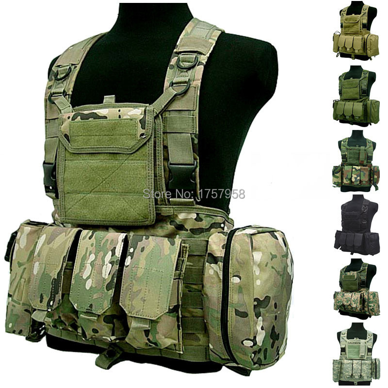 FSBE LBV Load Bearing Molle Assault Vest RRV Chest Rig Harness Paintball Combat Molle Vest hoodie