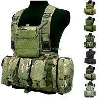FSBE LBV Load Bearing Molle Assault Vest RRV Chest Rig Harness Paintball Combat Molle Vest