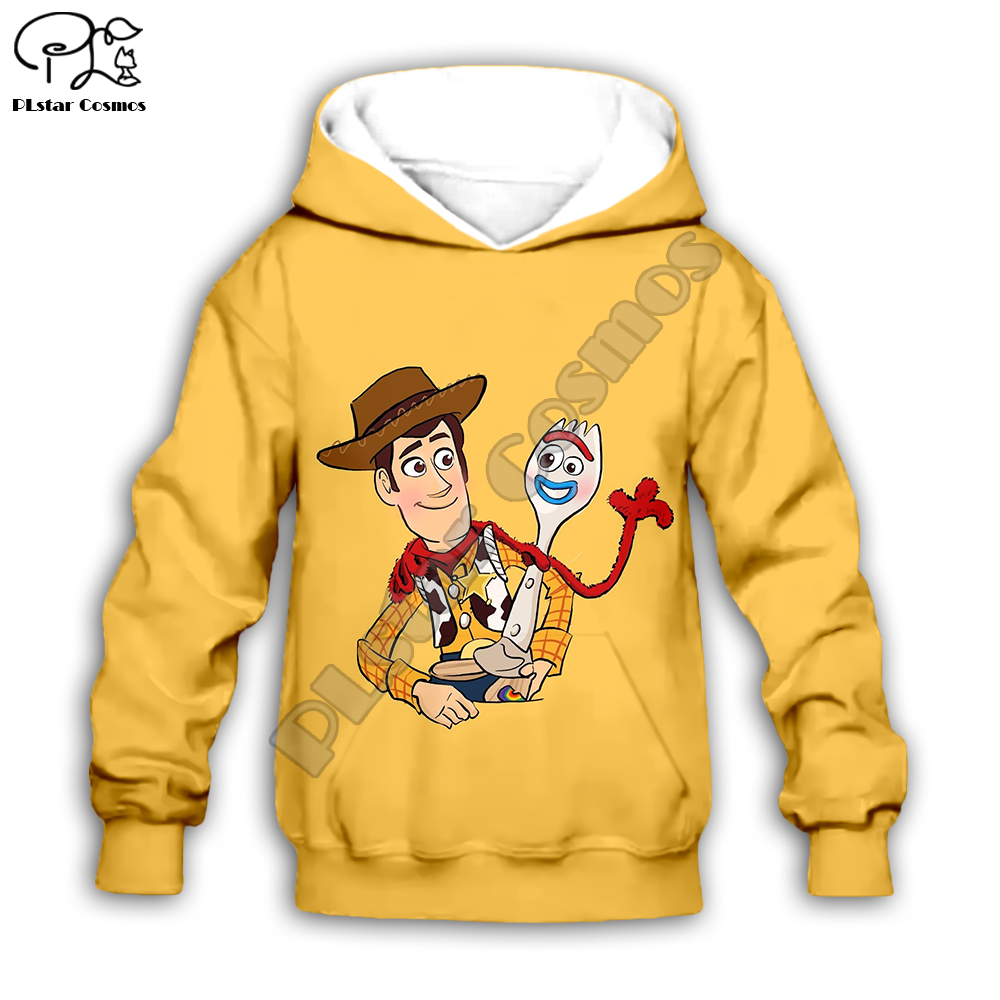 New Toy Story 4 Boys Girls Zipper Hoodies Coat Casual Hooded Clothes trousers