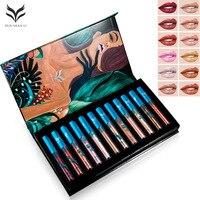 HUAMIANLI 12 Color Ultra Metal Liquid Lipstick Bronze Rose Gold Shimmer Metallic Lip Gloss No Fade