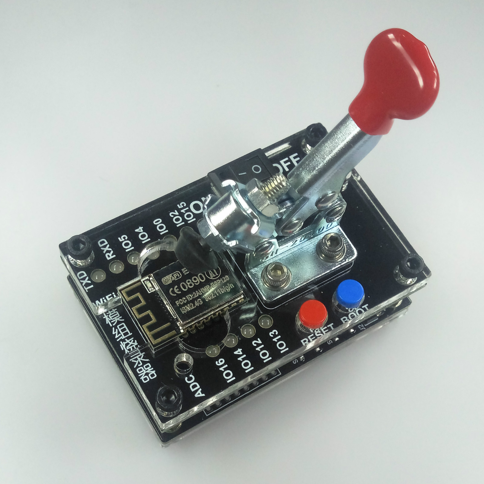 <font><b>ESP8266</b></font> test rack burner, one <font><b>button</b></font> download, support ESP-12S ESP-07S and other 7 modules. image