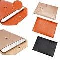 Moda ultra-fino couro envelope sleeve case para macbook air/pro 11 12 13 polegadas