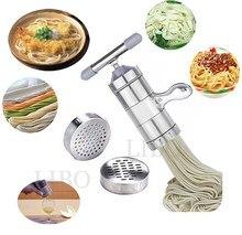 Pastas de macarrão de aço inoxidável, maquina de massa para vegetais e cozinha com 5 modelos