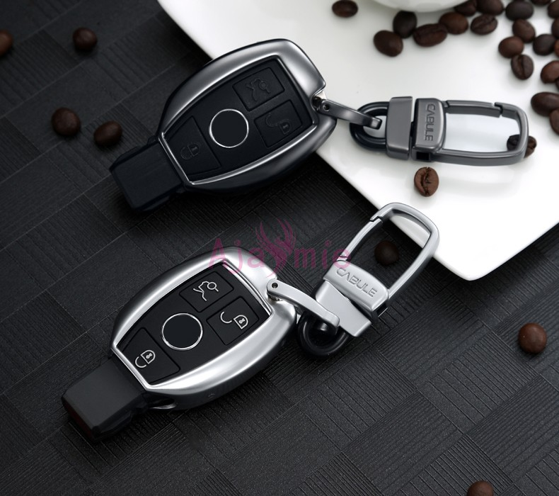 Accessories For Mercedes Benz CLA GLK GLA 200 AMG GLC 260 C180 C200 B200 S C E Class W213 Key Chains Case Ring Cover
