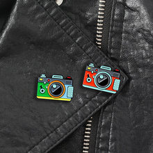 1PC Cartoon Camera Brooches For Women Rainbow Digital Camera Enamel Pins Coat Cap Backpack Photography And Kids Badge Gifts(China)