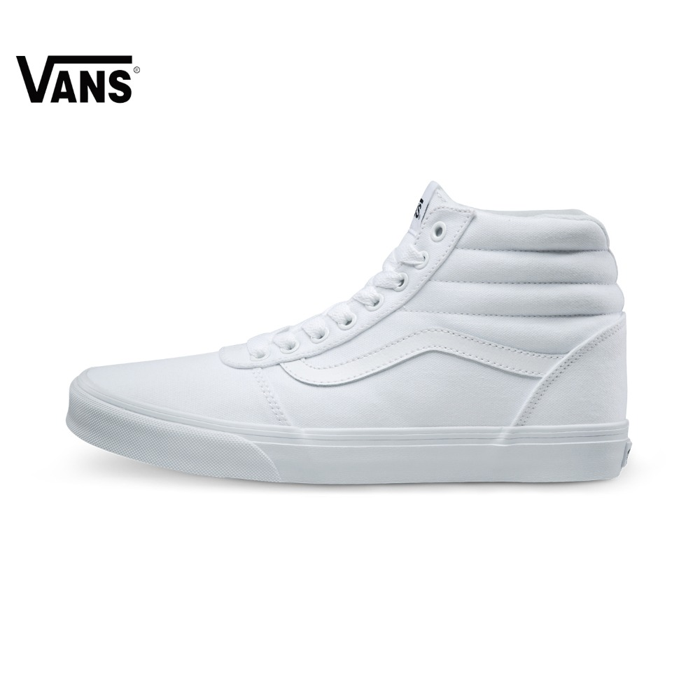 Original  Vans White Color High-Top Men's Sneakers For Men Skateboarding Shoes Sport Shoes