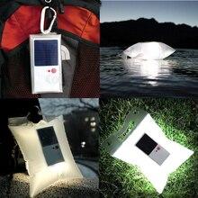 2pcs Solar Inflatable Led Lantern emergency lighting waterproof  Outdoor camping travel lightweight led light