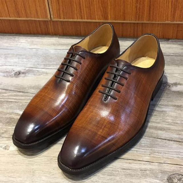 Sipriks Mens Genuine Leather Patina Brown Oxfords Square Toe Business  Office Boss Party Eveing Wear Shoes Unique Color Dress New 0caa3901b670