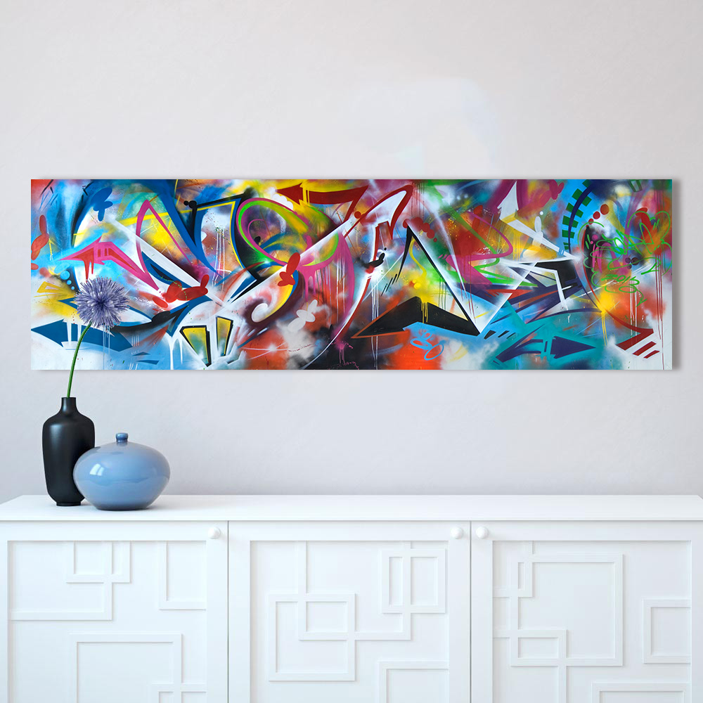 Buy  HDARTISAN Colorful Graffiti Oil Abstract Painting Canvas Prints for Wall Art Picture for Living roo