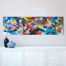 HDARTISAN Colorful Graffiti Oil Abstract Painting Canvas Prints for Wall Art Picture for Living room Home Decor(China)