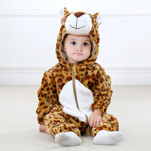 233bb5f34 Infant Romper Baby Boys Girls Jumpsuit New born Clothing Hooded Toddler  Baby Clothes Cute Leopard Romper