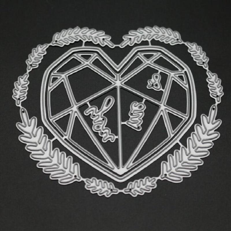 Heart garland metal cutting dies for DIY scrapbooking albulm photo decorative craft card making new dies for 2019 background die in Cutting Dies from Home Garden