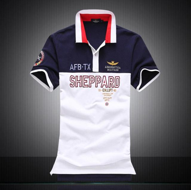 8614a76817ce5 New 2017 Aeronautica Militare Camisa Masculina Polo Mens Short Sleeve  Shirts