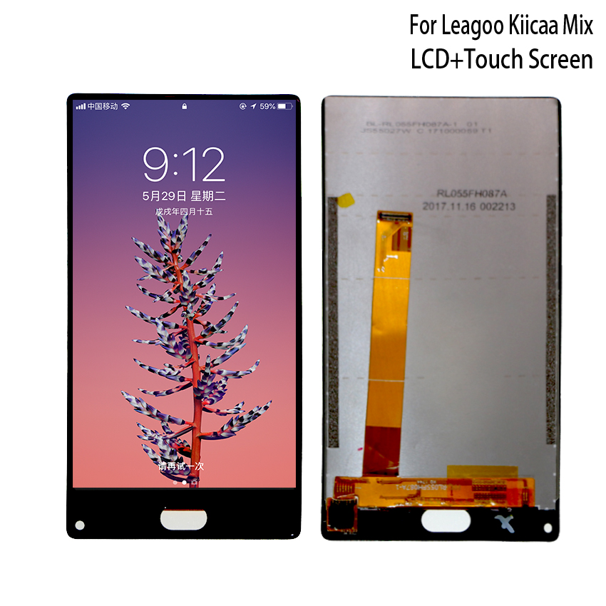 Original For LEAGOO KIICAA MIX LCD Display Touch Screen Phone Parts For LEAGOO KIICAA Display Screen LCD Parts Free Tools