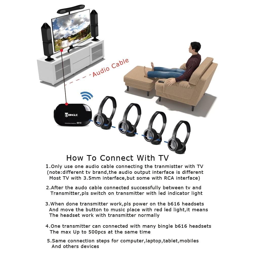 2 paquetes de función de Radio Sonido Envolvente auriculares inalámbricos de Tv para Xbox 360 PS4 juego Samsung Lg Sony TV - 3