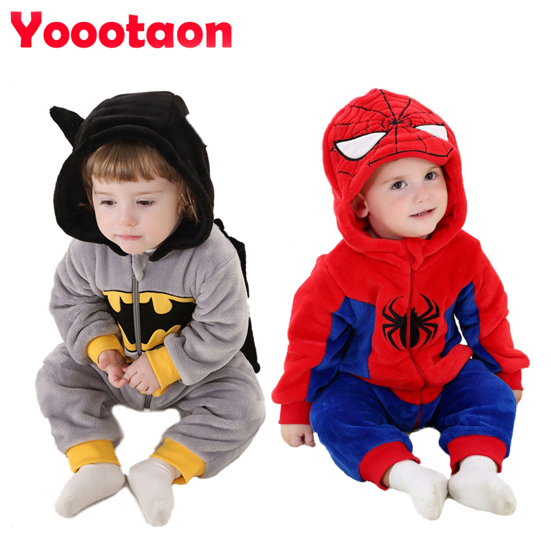 Nieuwe lente babykleding One-Pieces Cartoon Animal Jumpsuit Flanel Baby Boy kleding kostuum Baby Girl Rompertjes